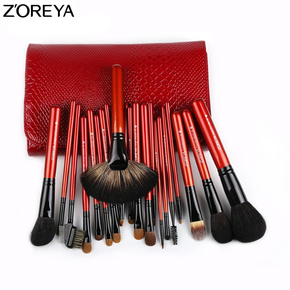 [해외]ZOREYA  Makeup Brush Set  21pcs Sable Hair  Fan Powder Foundation Eyeshadow Blending Lip Brushes Beauty Make Up Tool/ZOREYA  Makeup Brush Set  21p