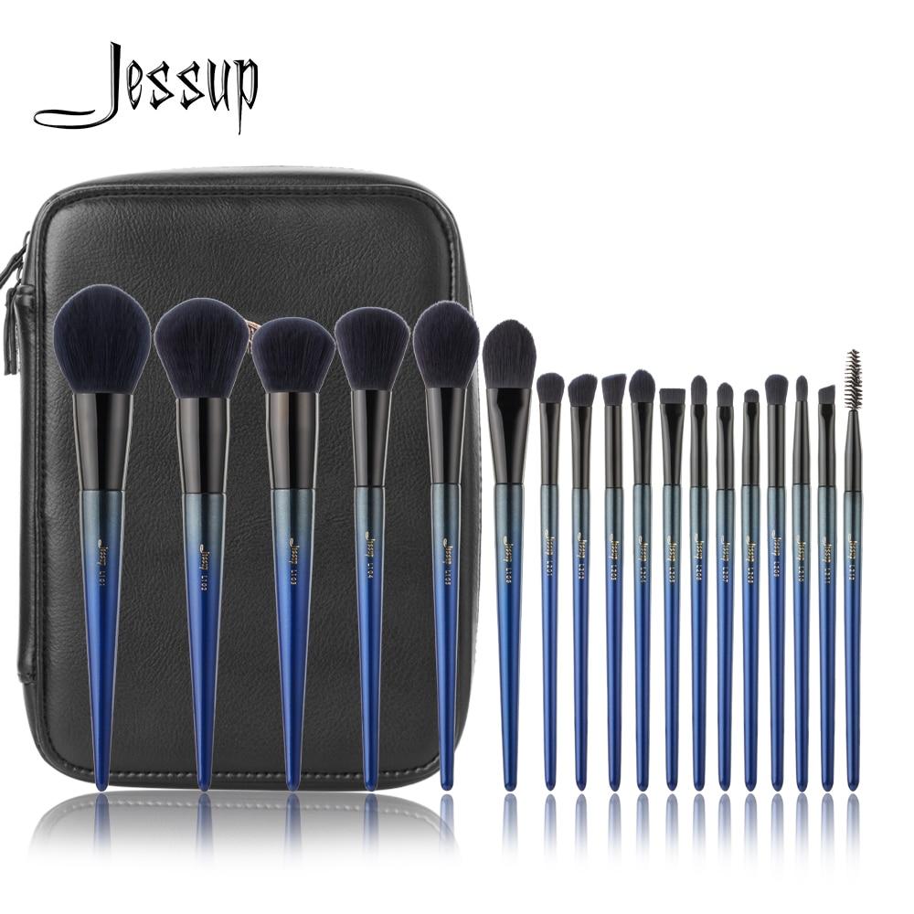 [해외]Jessup 18pcs Makeup Brushes Set pincel maquiagem profissional completa Foundation Eyeshadow Brushes T263 Cosmetic bag CB005/Jessup 18pcs Makeup Br