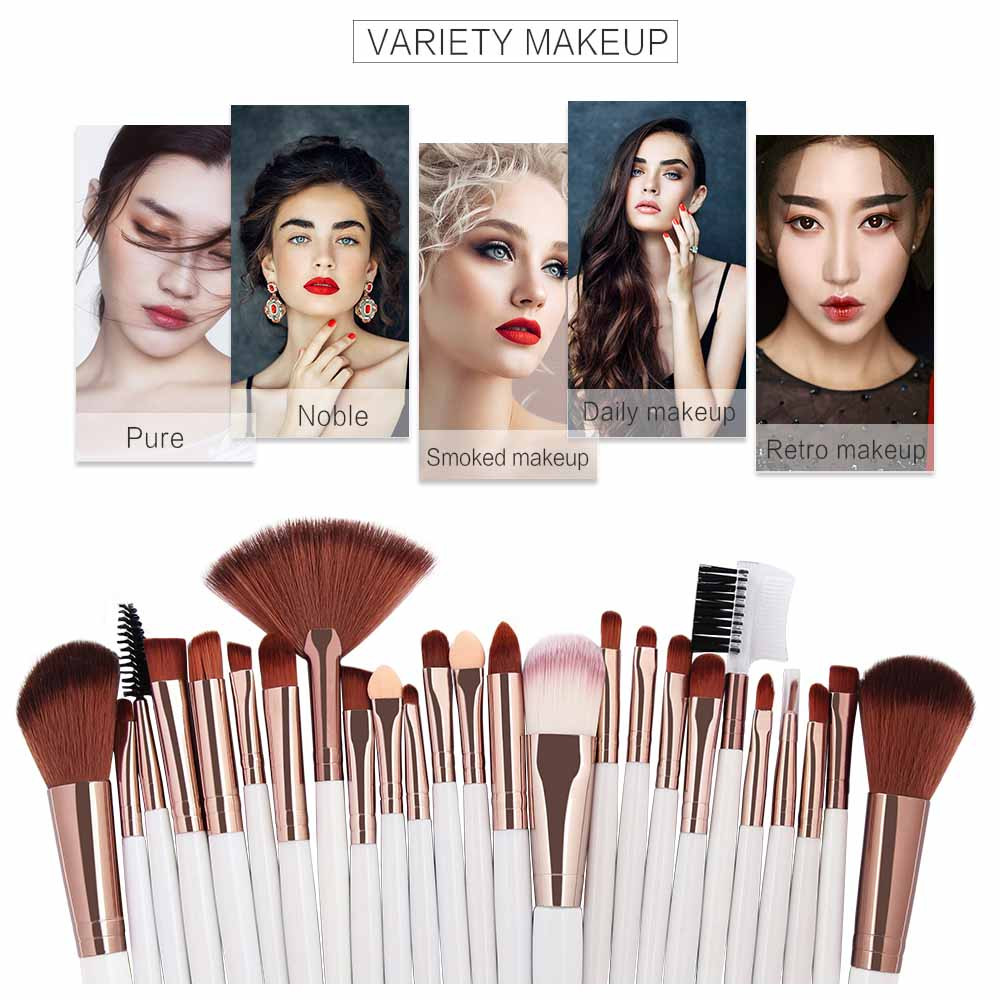 [해외]New  25PCS Cosmetic Makeup Brushes Sets Women`s Fashion Powder Liquid Foundation Blush Eye Shadow Brush Set 2019/New  25PCS Cosmetic Makeup Brushe