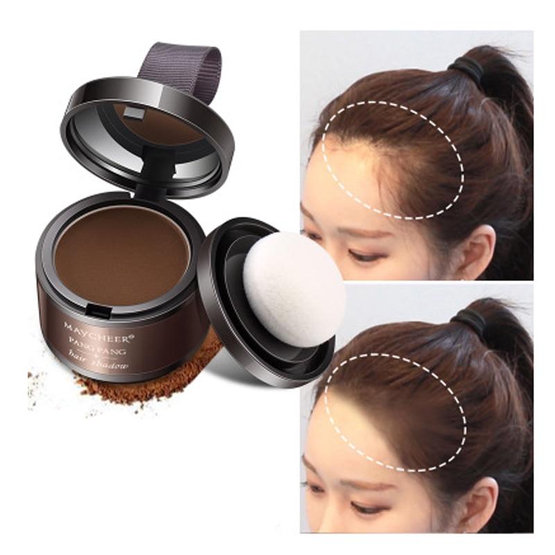 [해외]4 가지 색상 모발 털이 분말 즉시 블랙 루트 커버 업 자연 인스턴트 헤어 라인 섀도우 파우더 헤어 컨실러 커버리지/4 Color Hair Fluffy Powder Instantly Black Root Cover Up Natural Instant Hair Lin