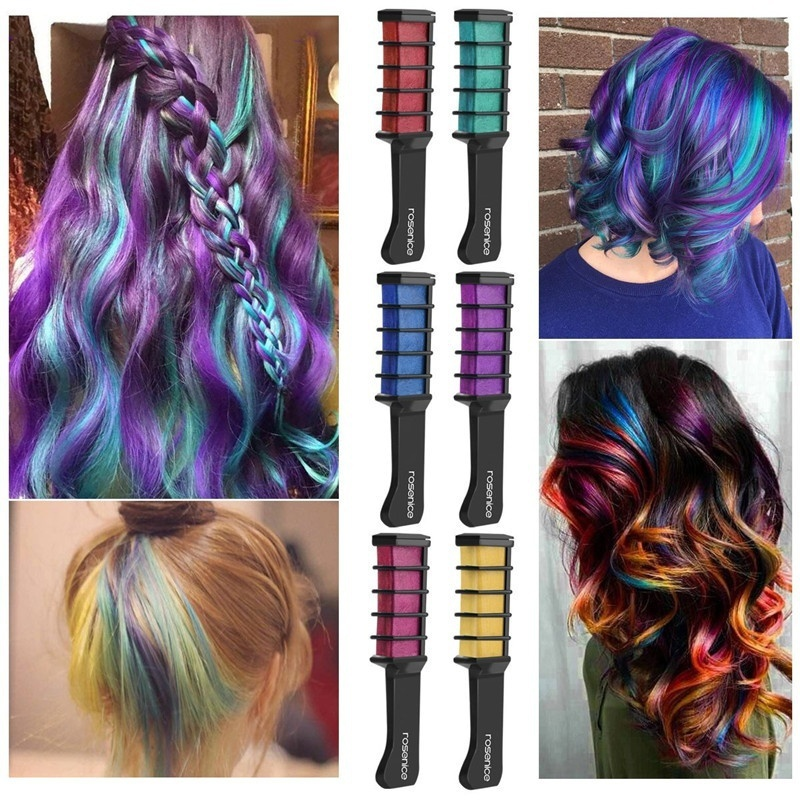 [해외]8 Colors Fashion Sexy Ameauty Temporary Hair Chalk Cosplay DIY Non-Toxic Washable Hair Color Comb for Party Makeup/8 Colors Fashion Sexy Ameauty T