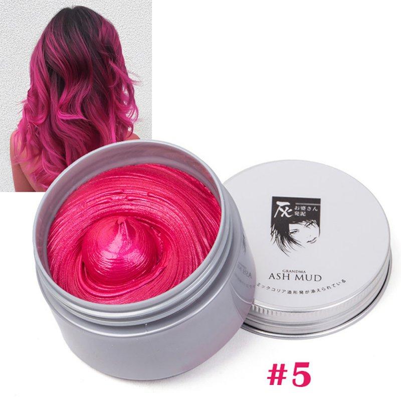[해외]DIY Grandma Grey Hair Color Wax Harajuku Style Hair Coloring Modeling 7 Color Temporary Hair Dye Cream Mud  Styling Tools/DIY Grandma Grey Hair Co