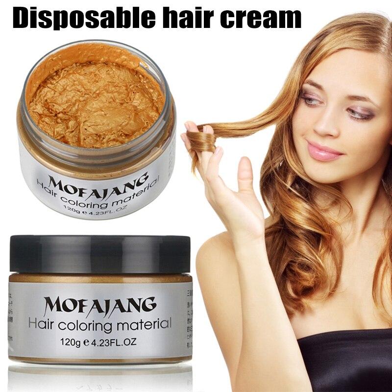 [해외] UniDIY Hair Color Wax Mud Dye Cream Temporary Modeling 7 Colors Hair Wax/ UniDIY Hair Color Wax Mud Dye Cream Temporary Modeling 7 Colors Hair Wa