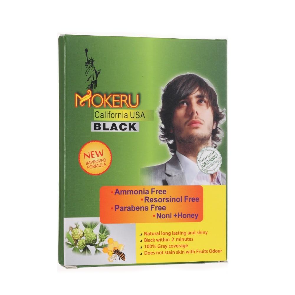 [해외]Mokeru 5pcs Herbal Natural Noni Plant Essence Oragnic Magic Black Hair Dye Shampoo Fast Dye Black Shampoo For Grey Hair Cover/Mokeru 5pcs Herbal N
