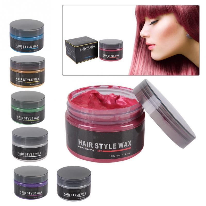 [해외]120g Colors Hair Wax Styling Pomade Disposable Hair Dye Coloring Mud Hairstyle Modeling Cream/120g Colors Hair Wax Styling Pomade Disposable Hair