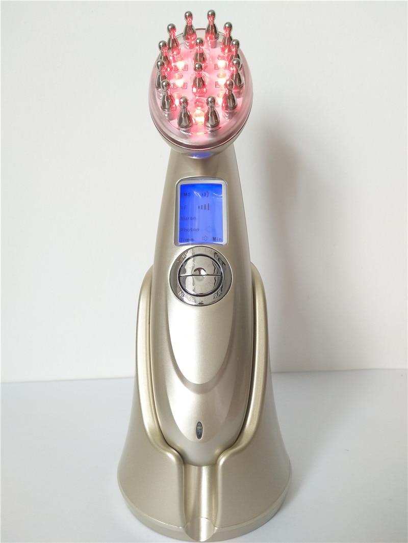 [해외]/Home Use Infrared Ray Vibrating Massage Stainless Steel Electric Laser Comb for Hair Growth