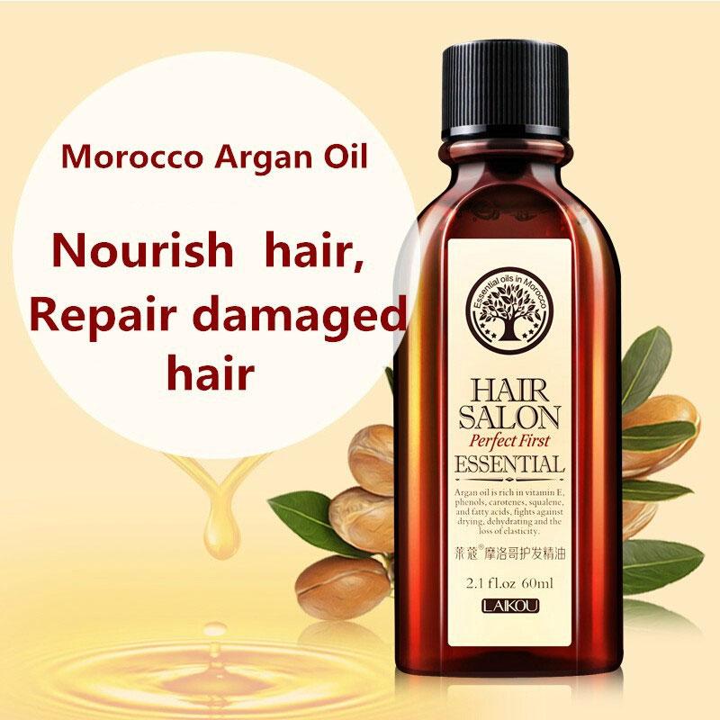 [해외]/New Morocco Argan Oil Hair Care Keratin 100% PURE Glycerol Nut Oil Hairdressing Hair Mask Essential Moroccan Oil 60ml Product