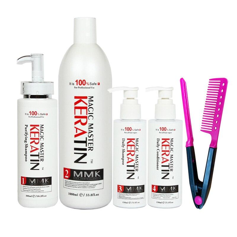 [해외]/New Products Best Selling 4Pcs Without Formalin Magic Master Keratin Professional Repair Damaged Hair&Straighten Hair Care Set