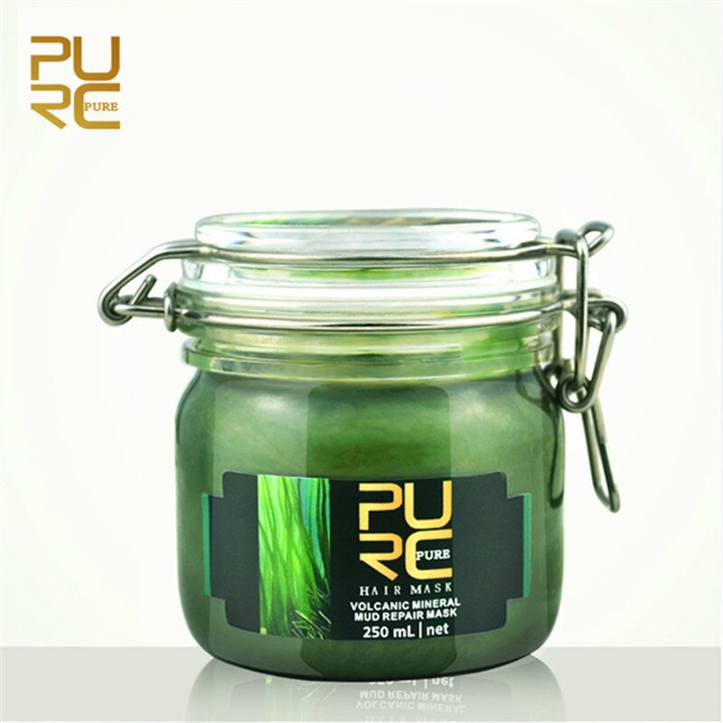[해외]PURC 250ml Volcanic Mineral Mud Repair Moisturizing Hair Mask Deep Nourish Repair Damaged Hair Make Hair Smooth And Shine/PURC 250ml Volcanic Mine