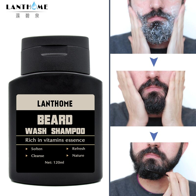 [해외]허벌 비어드 워시 샴푸 & 컨디셔너 수염 깨끗한 액체 아르간 오일 헤어 비타민 에센스 모이스처 라이저 헤어 케어 영양/Herbal Beard Wash Shampoo and Conditioner Beard Clean Liquid Argan Oil Hair