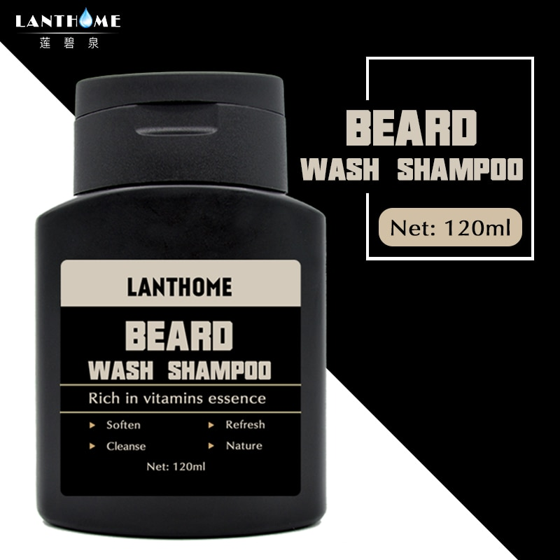 [해외]/Lanthome Beard Shampoo for Men Vitamin Essence Cleansing Moisturizing Nourishing Beard Shampoo Repair Conditioner Beard Shaping