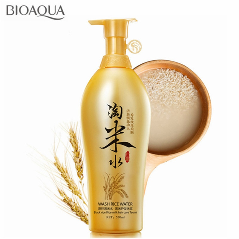 [해외]/BIOAQUA 530ml Traditional Wash Black Rice Water Hair Shampoo Anti Dandruff Itching Oil-control Improve frizz Hair Care Products