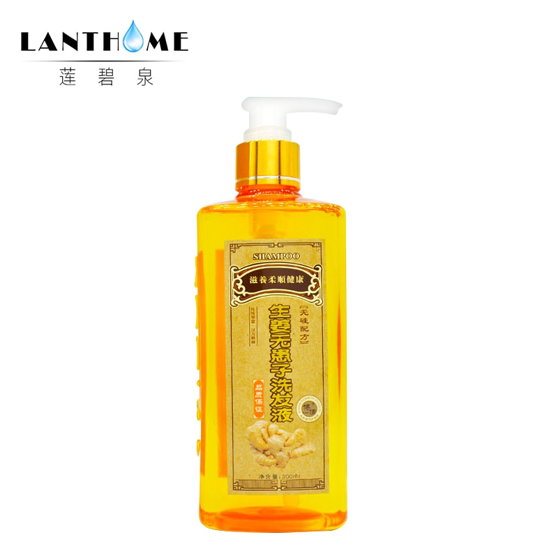 [해외]/Professional Ginger Shampoo Anti-Hair Loss Product Shampoo 300ml Natural Hair regrowth repair Nourish supple shampoo