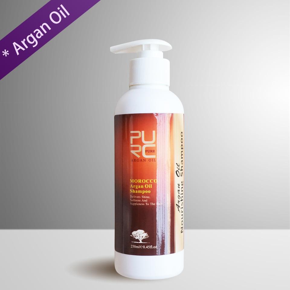 [해외]PURC 250ml Nature Argan Oil Shampoo Deep Clean Antidandruff Itching Oil Control No Stimulation Best Hair Care Products/PURC 250ml Nature Argan Oil