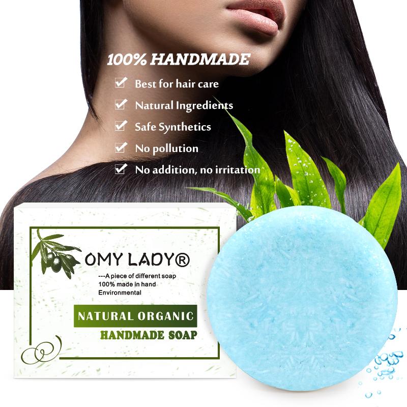 [해외]OMY LADY 100% Pure Natural Handmade Shampoo Soap Seaweed Essential Oil Hair Cold Processed Anti-Dandruff Off Hair Care/OMY LADY 100% Pure Natural
