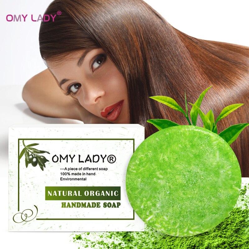 [해외]OMY LADY 100% Pure Natural Handmade Shampoo Soap tee tree Essential Oil Hair Cold Processed Anti-Dandruff Off Hair Care/OMY LADY 100% Pu