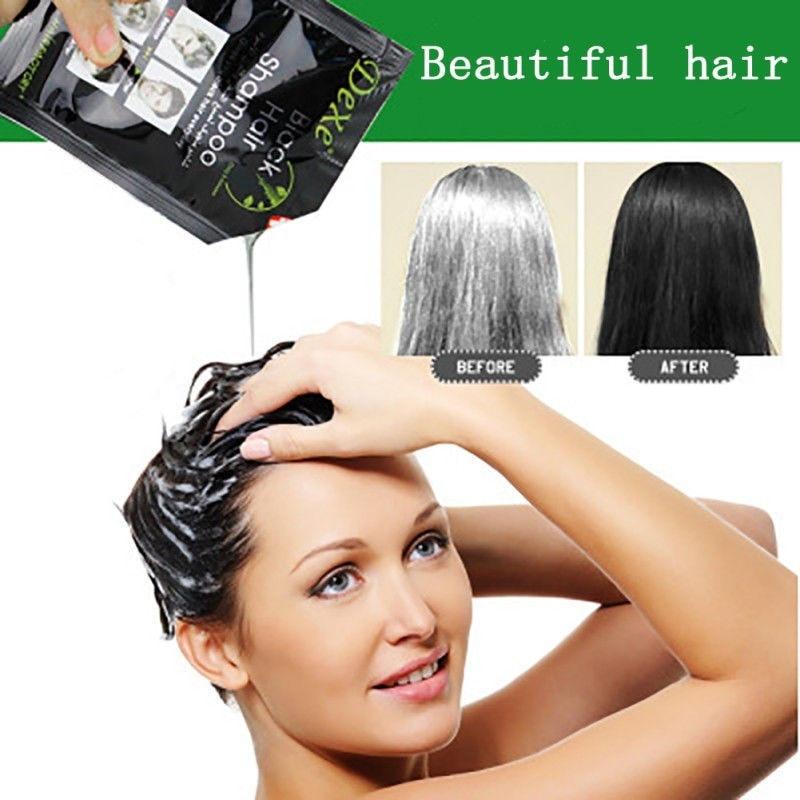 [해외]Dexe 2019 New white hair blackening hair dye portable two-in-one package dyed black hair shampoo one wash black Hair Shampoo/Dexe 2019 New white h