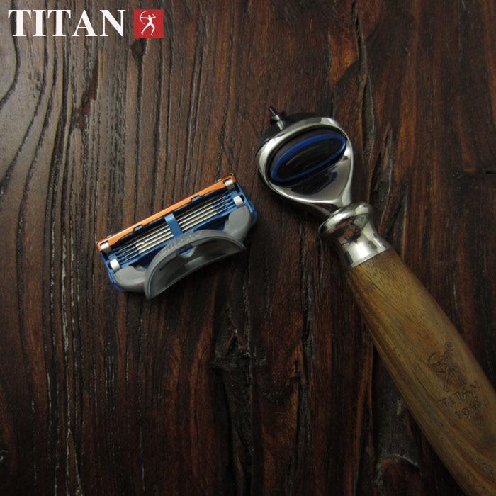 [해외]면도날 5 레이어 블레이드 남성용 면도기 면도기 나무 손잡이의 고품질 면도기/Razor Blades 5 Layer Blades Shaving Razor for men   high quality razor in wooden handle