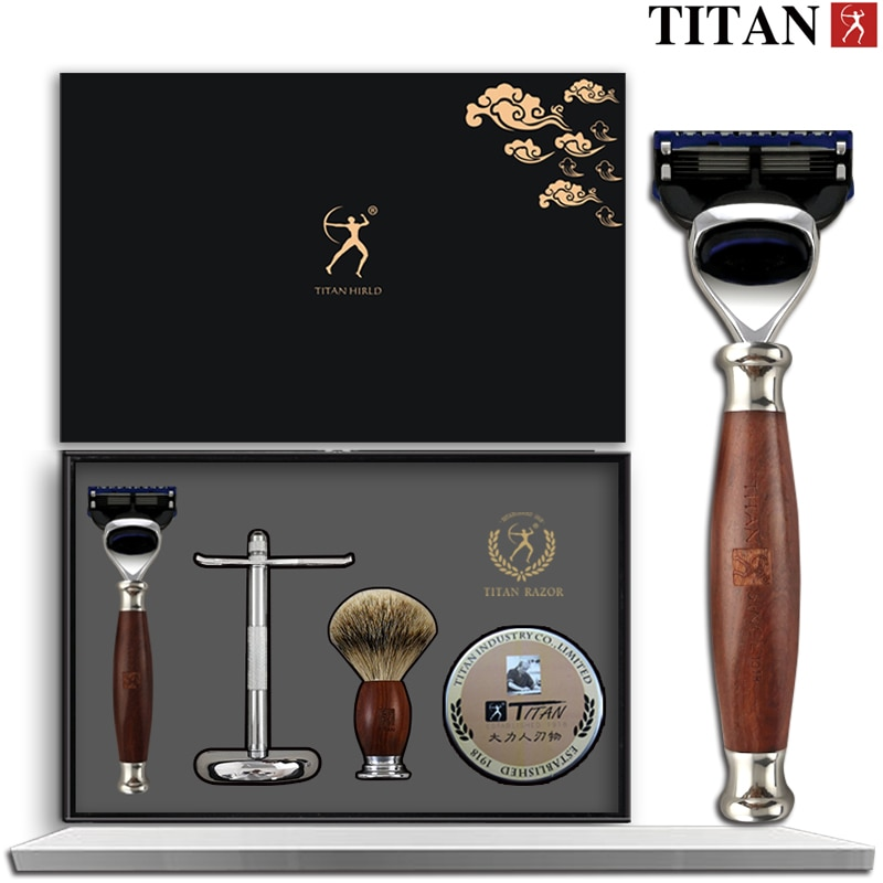 [해외]Titan safety razor double edge safety razor set  stainless steel Classic Fashion Men Manual Shaver/Titan safety razor double edge safety razor set