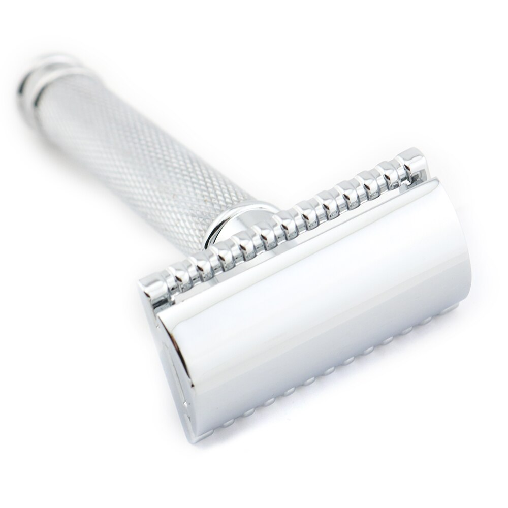 [해외]Double Edge Safety Razor Shaving Razor Silver Manual Razor Classic Style 9.8CM Anti Slip handle Lyrebird H1 NEW/Double Edge Safety Razor Shaving R