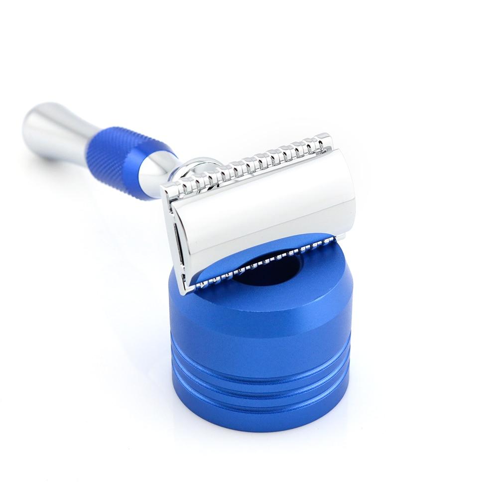 [해외]Double Edge Safety Razor Shaving Razor Blue Manual Razor Classic Style 12.7CM Long Handle Lyrebird NEW/Double Edge Safety Razor Shaving Razor Blue