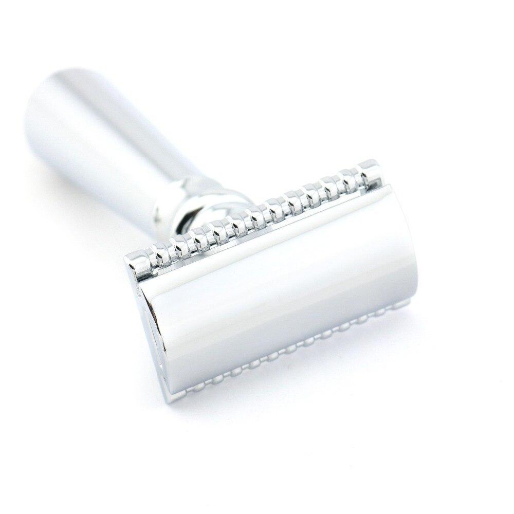 [해외]Double Edge Safety Razor Shaving Razor Silver Manual Razor Classic Style 10.9CM Zinc Alloy Wholesale H5 10PCS/LOT Lyrebird NEW/Double Edge Safety
