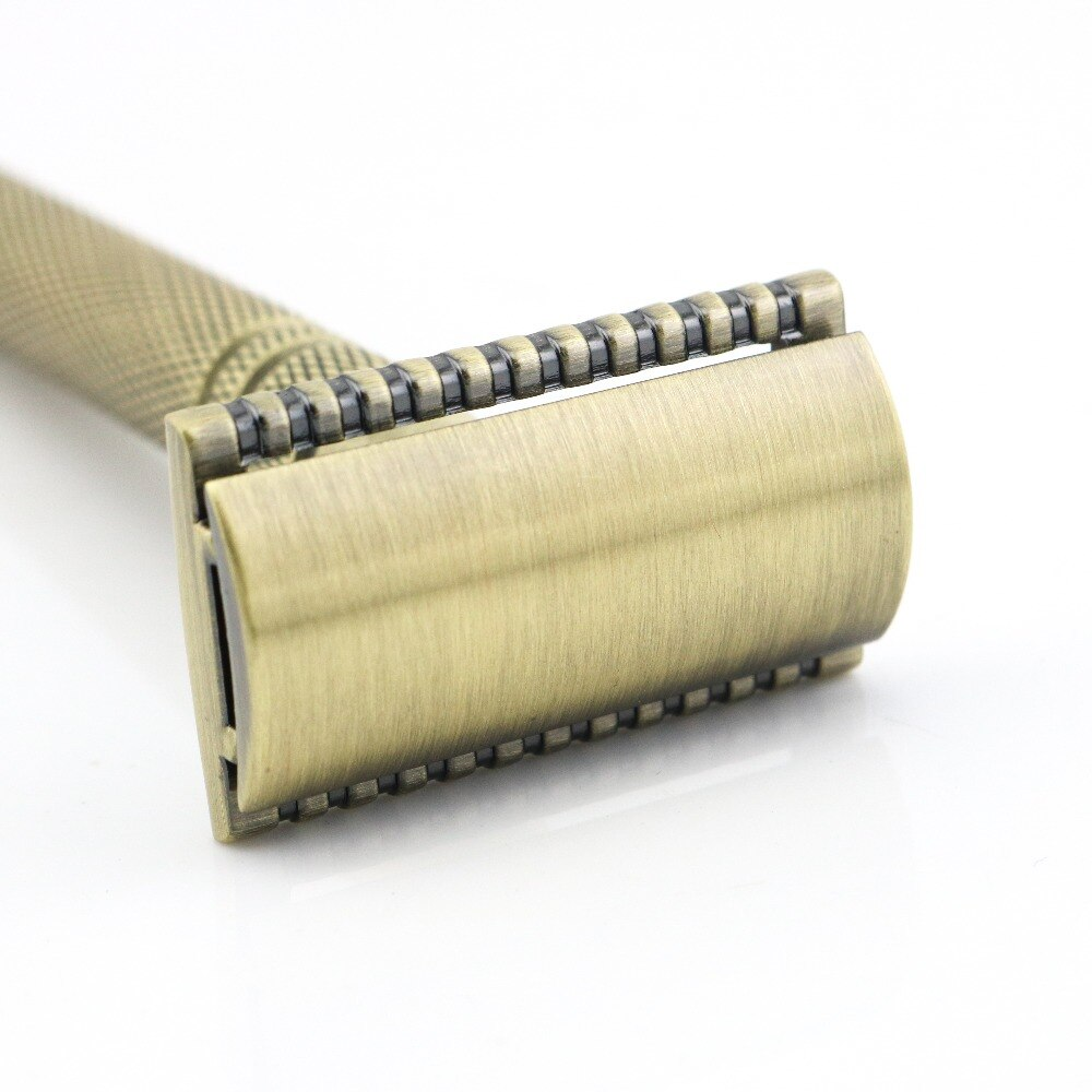 [해외]Double Edge Safety Razor Shaving Razor Silver Manual Razor Classic Style 10.8CM Brass Long Anti Slip handle Lyrebird NEW/Double Edge Safety Razor