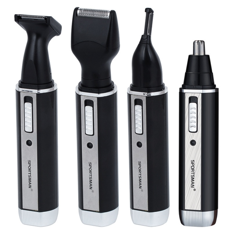 [해외]4 In 1 Rechargable Ear Nose Trimmer Electric Shaver Beard Face Eyebrows Nose Ear Hair Trimmer Automatic Removal Shaver For Men/4 In 1 Rechargable