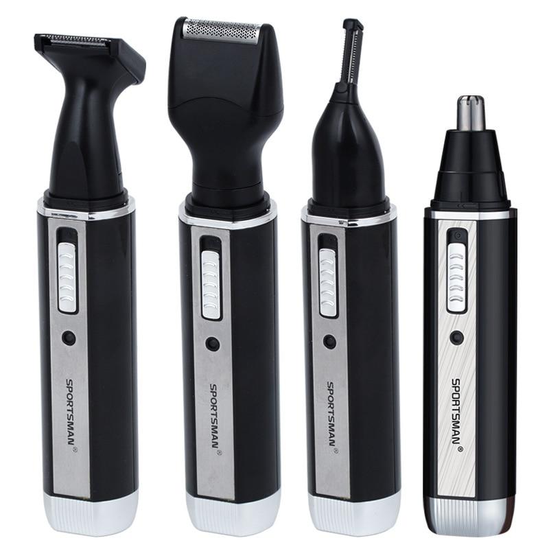 [해외]4 In 1 Rechargable Ear Nose Trimmer Electric Shaver Beard Face Eyebrows Nose Ear Hair Trimmer Automatic Removal Shaver For Men/4 In 1 Rechargable