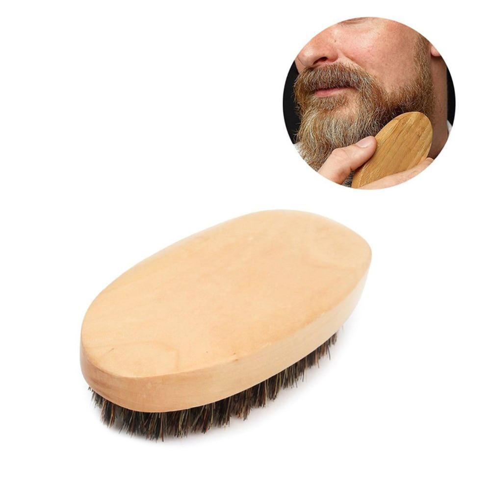 남성 수염 브러쉬 천연 멧돼지 면도 빗 얼굴 마사지 콧수염 브러쉬
