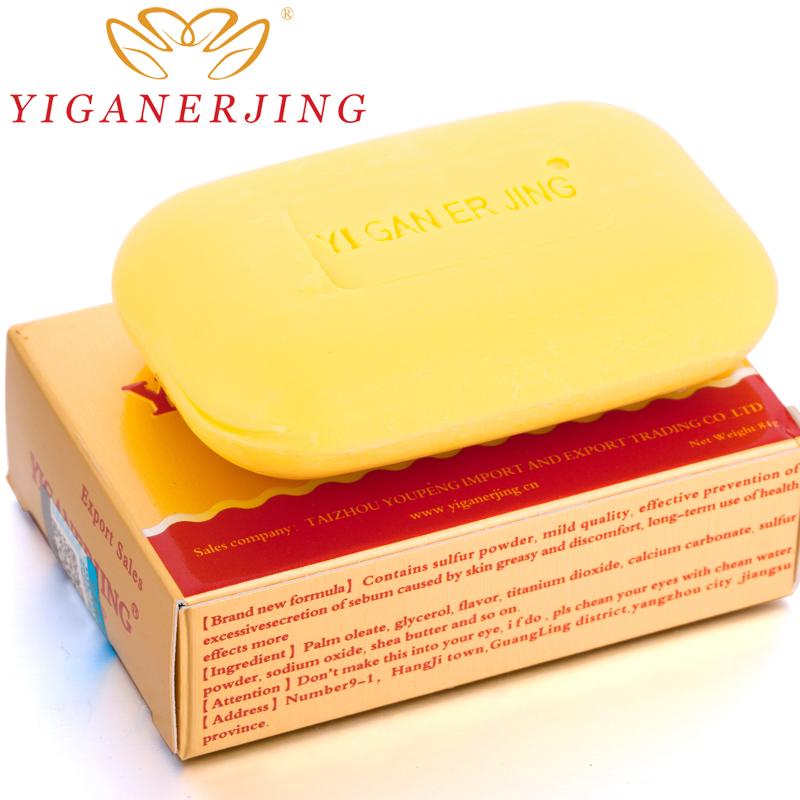 [해외]많은 당 3 조각 YIGANERJING 유황 비누 지루해의 습진 안티 곰팡이의 향수 버터 거품 목욕 건강한 비누/3pieces per lot YIGANERJING Sulfur Soap Seborrhea Eczema Anti Fungus Perfume Butter