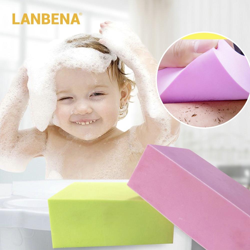 [해외]/LANBENA Bath Sponge Body Scrubber Bath Shower Brush Exfoliating Dirt Remover Cleaning Tool Massage Ultra Soft For Baby