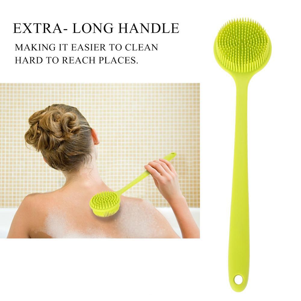 [해외]Silicone Soft Long Handle Shower Exfoliating Brush  Scrubber Bath Shower Massage Brush/Silicone Soft Long Handle Shower Exfoliating Brush  Scrubbe