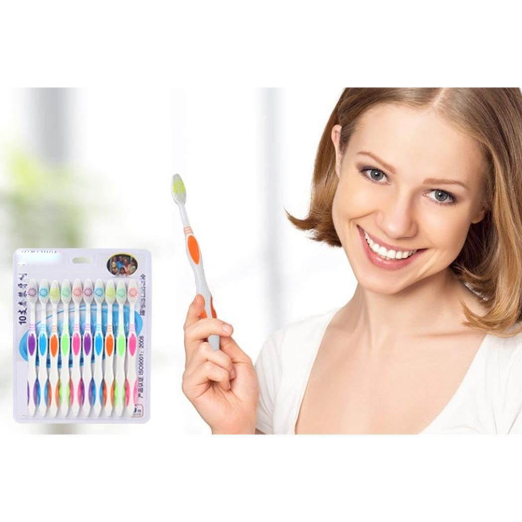 [해외]10Pcs Soft Hair Toothbrush Home Oral Casual Hygiene Plastic As Picture Adult 18.4cm/7.2inch Set x Toothbrush/10Pcs Soft Hair Toothbrush Home Oral