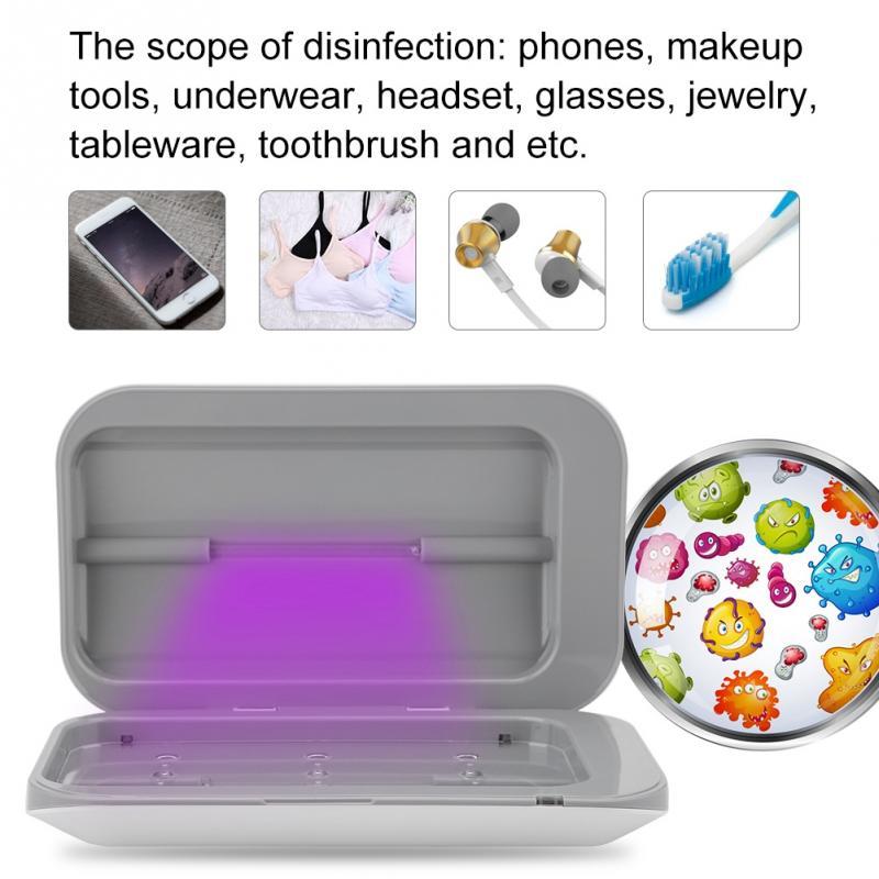 [해외]Double Antibacteria UV Light Disinfection Toothbrush For Phone MP3 Sterilizer USB Charging Sterilizer Cleaner Cosmetic Brush Box/Double Antibacter