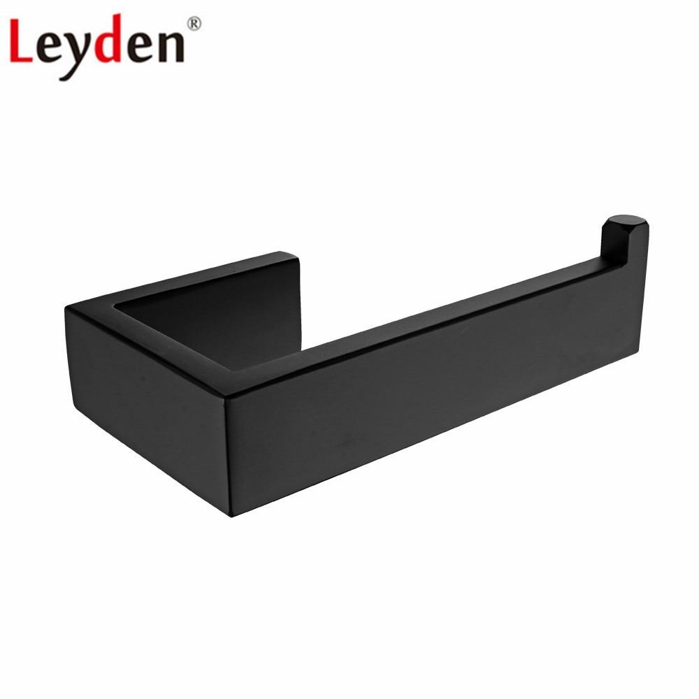 [해외]Leyden Black 304 스테인레스 스틸 화장지 홀더 벽 장착형 티슈 홀더 롤 용지 홀더 욕실 악세사리/Leyden Black 304 Stainless Steel Toilet Paper Holder Wall Mounted Tissue Holder Roll