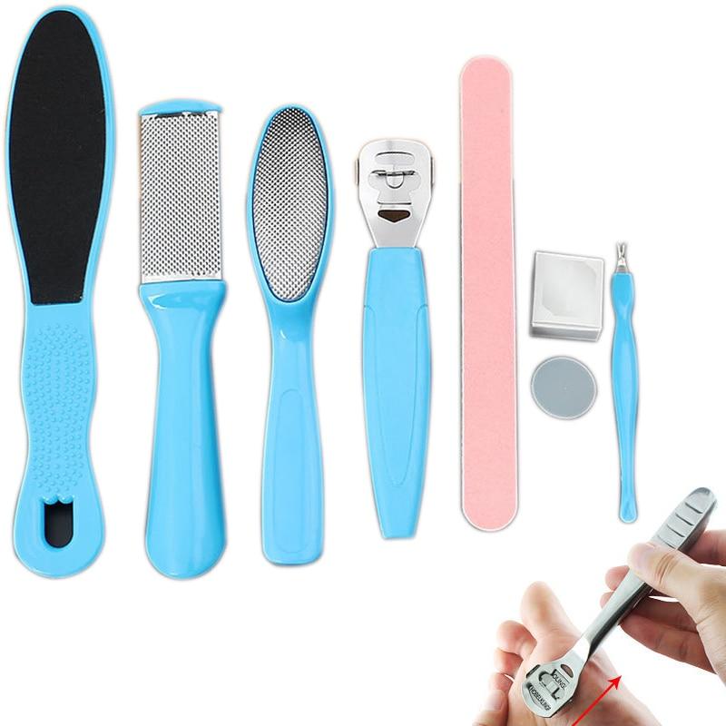 [해외]8Pcs/Set Manicure Foot Care File Set Dead Hard Skin Callus Remover Scraper Pedicure Rasp Tools Pedicure Feet Care Tool Kit /8Pcs/Set Manicure Foot