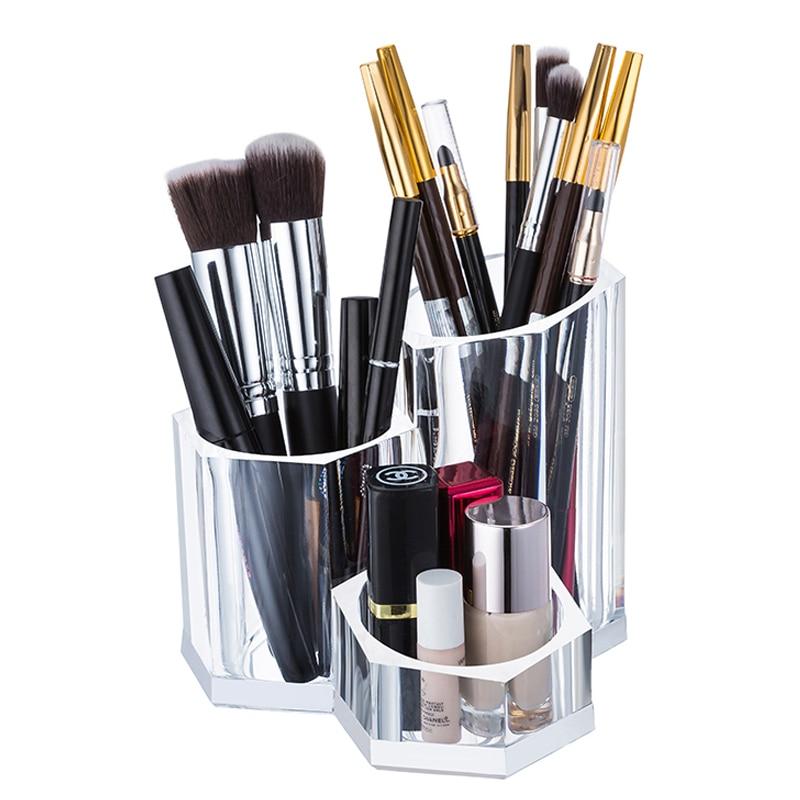 [해외]Transparent Clear Acrylic Makeup Brush Holder Cosmetic Tools for Lipstick Eyeliner Pencil Nail Polish For Dropshipping/Transparent Clear Acrylic M
