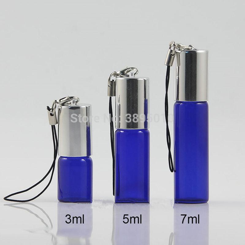 [해외]3ml 5ml 7ml 파란색 유리 병 롤 빈 향수 향수 에센셜 오일 병 F1041/3ml 5ml 7ml Blue Glass Bottle Roll On Empty Fragrance Perfume Essential Oil Bottle F1041