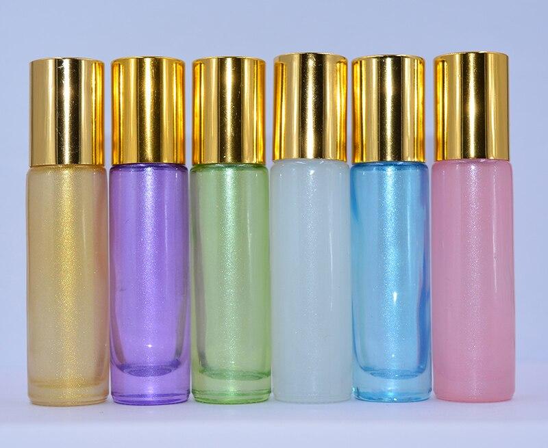 [해외]1000pcs/lot Wholesale Price colorful 10ml 1/3oz THICK Roll On Glass Perfume Bottle Fragrances Essential Oil bottle Roller Ball /1000pcs/lot Wholes