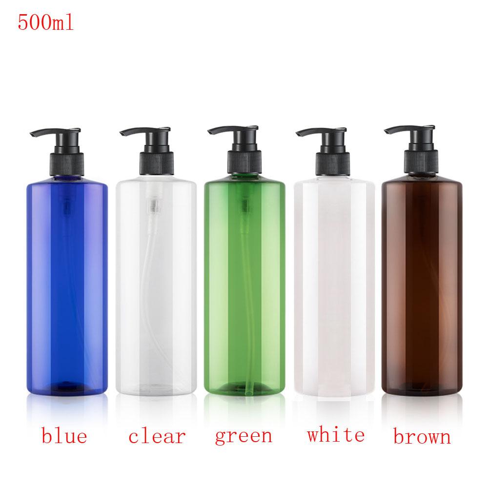 [해외]12pcs 500ml PET Plastic Bottleslotion Pump Empty Cosmetic Containers,Cleansing/Moisturizer/Body Wash/Shampoo Bottle/12pcs 500ml PET Plastic Bottle