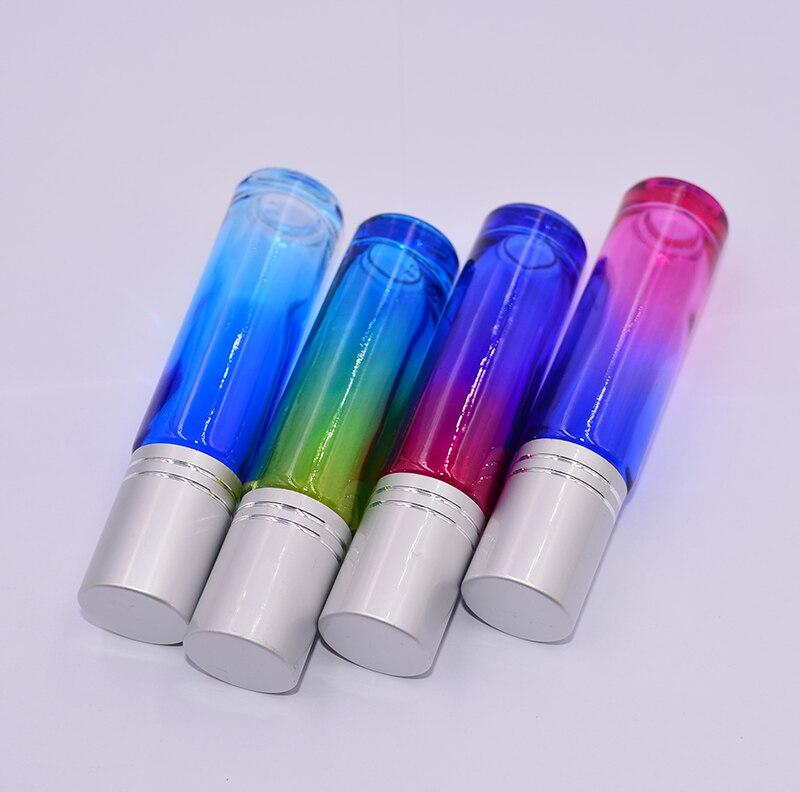 600 개/몫 도매 가격 다채로운 10 ml 1/3 oz 두꺼운 롤 유리 향수 병 향수 에센셜 오일 병 롤러 볼