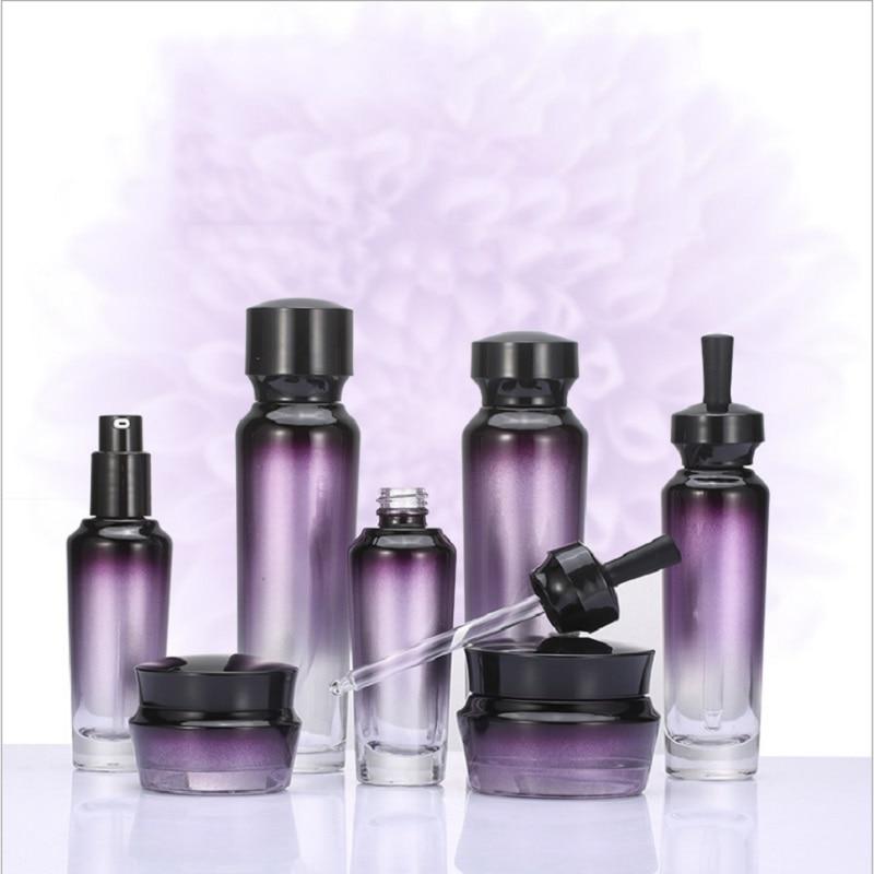 [해외]100ml 50ml 30ml 30g 50g Toner Bottle Essence Lotion Pump Glass Dropper Bottle Cream Jar Cosmetic Container Refillable Bottle/100ml 50ml 30ml 30g 5