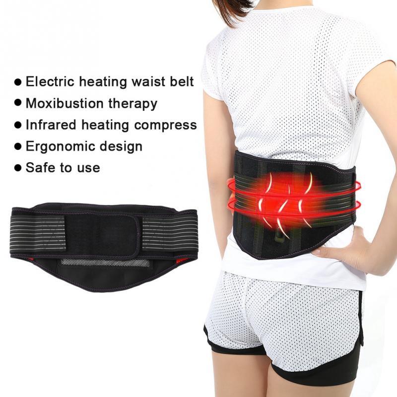 [해외]Electric Heating Moxibustion belt far Infrared uterus warming waist Pain Relief Therapy Chiropractic Home Relaxation Health care/Electric Heating