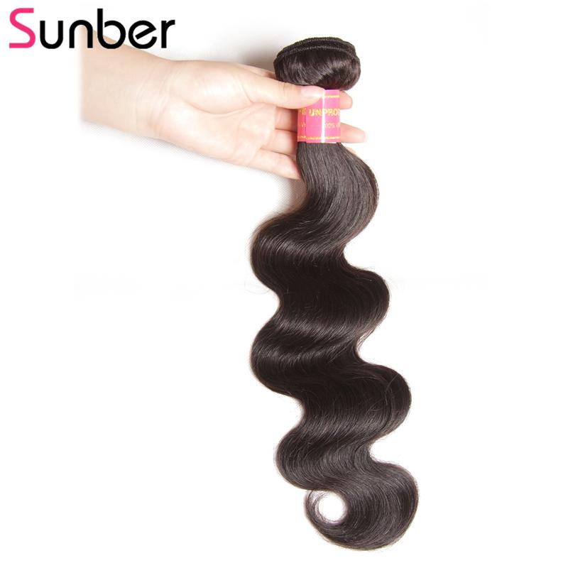 [해외]Sunber 레미 헤어 1 번들 페루 바디 웨이브 인간 헤어 제빙 8-30 인치 자연 블랙 혼합 길이 수 /Sunber Remy Hair 1 Bundle Peruvian Body Wave Human Hair Weaving 8-30 Inch Natural Blac