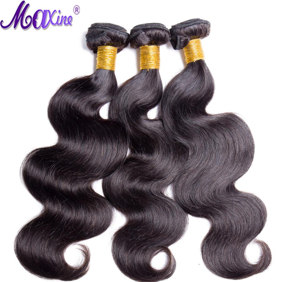 [해외]맥신 헤어 페루 바디 웨이브 헤어 번들 100 % 인간 헤어 익스텐션 8-30inch 1/3 피스 비 레미 헤어 위빙 자연 색/Maxine Hair Peruvian Body Wave Hair Bundles 100% Human Hair Extensions 8-30