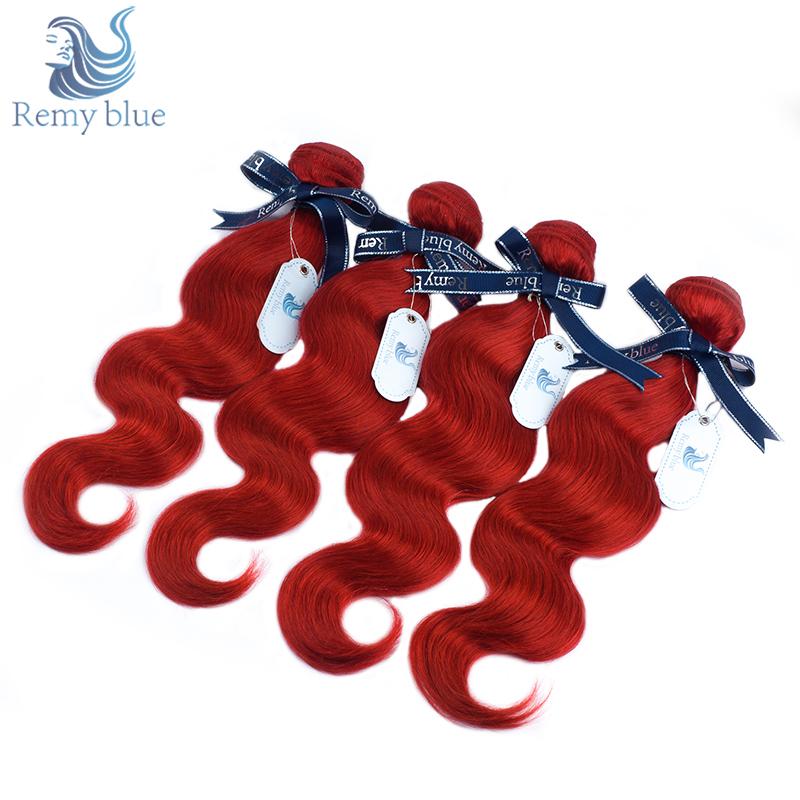 [해외]레미 블루 레드 인디안 바디 웨이브 헤어 번들 부르고뉴 1/4 PCS 휴먼 헤어 번들 특가 더블 털 레미 헤어 위브 익스텐션/Remy Blue Red Indian Body Wave Hair Bundles Burgundy 1/4 PCS Human Hair Bund