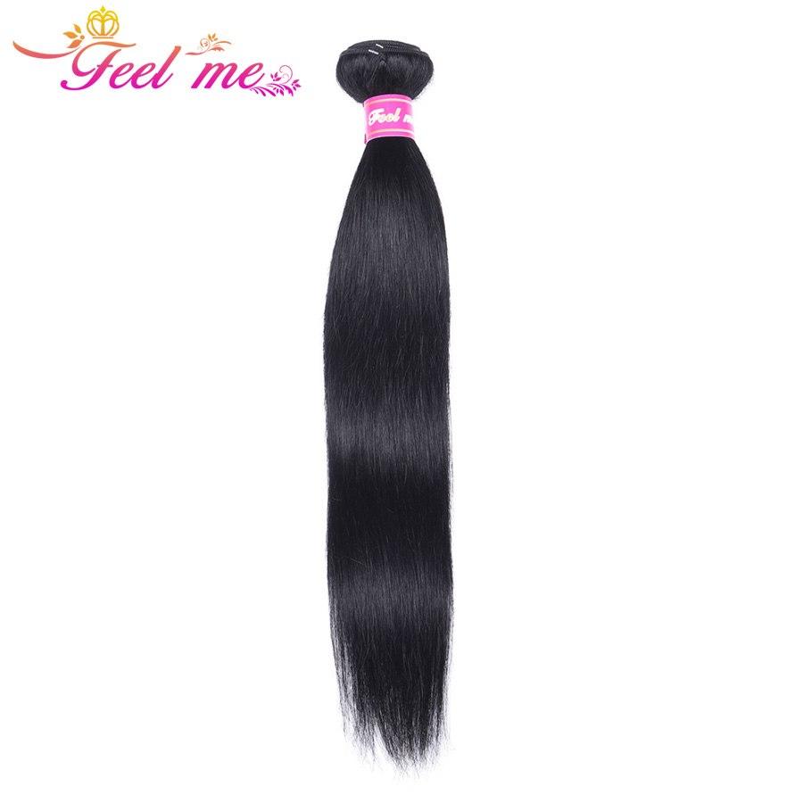 [해외]브라질 스트레이트 헤어 번들 느낌 제트 블랙 인모 헤어 번들 헤어 위브 1 10-26 인치 Pre-Colored Hair Extension Non Remy/Feel Me Brazilian Straight Hair Bundles Jet Black Human Hai