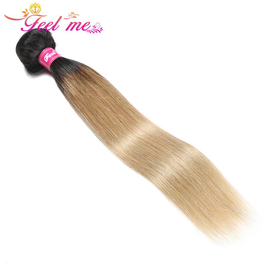 [해외]Feel Me Hair 브라질 스트레이트 인모 헤어 번들 1b / 27 헤어 익스텐션 Blonde Bundles 옹 브르 헤어 위브 번들 특가 Non-remy/Feel Me Hair Brazilian Straight Human Hair Bundles 1b/27