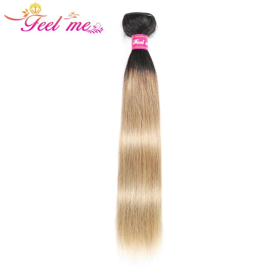 [해외]머리카락을 똑바로 느껴라 브라질 헤어 번들 1b / 27 헤어 익스텐션 금발 번들 옹 브르 인간 헤어 위브 번들 거래 Non-remy/Feel Me Hair Straight Brazilian Hair Bundles 1b/27 Hair Extensions Blon